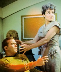 The Salt Creature as Nancy Crater preparing to attack Captain Kirk