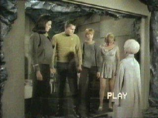 Yeoman Colt with Captain Pike and others